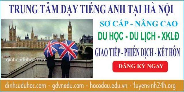 Học tiếng Anh tại trung tâm dạy tiếng Anh chất lượng ở Hà Nội