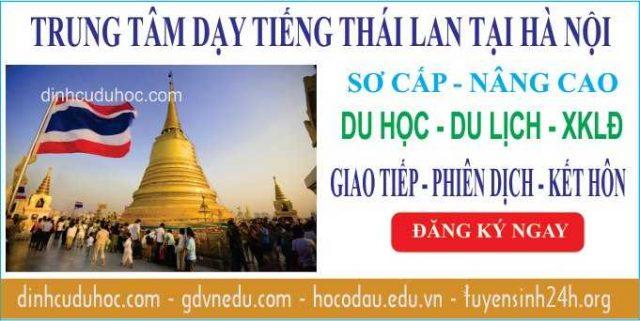 Học tiếng Thái Lan tại Trung tâm dạy tiếng Thái chất lượng ở Hà Nội