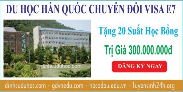 du học hàn quốc chuyển đổi visa e7 - trường đại học kunjang