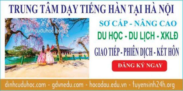 Học tiếng Hàn Quốc. Trung tâm dạy tiếng Hàn tại Hà Hội